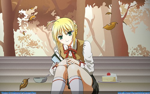 TYPE-MOON, Fate/stay night, Saber, Vector Art Wallpaper