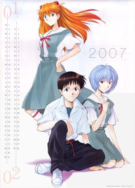 Yoshiyuki Sadamoto, Gainax, Neon Genesis Evangelion, Evangelion 2007 Calendar, Shinji Ikari