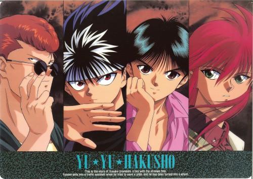 Studio Pierrot, Yuu Yuu Hakusho, Hiei, Kurama, Kazuma Kuwabara