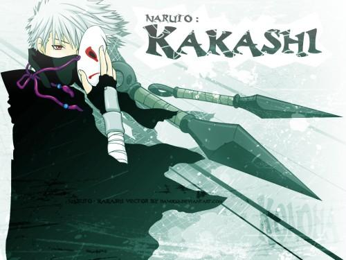 Masashi Kishimoto, Studio Pierrot, Naruto, Kakashi Hatake, Vector Art Wallpaper