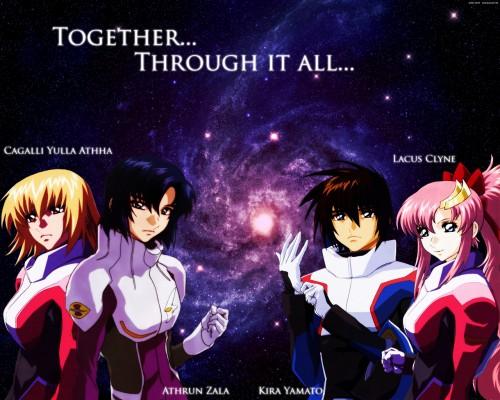 Sunrise (Studio), Mobile Suit Gundam SEED Destiny, Kira Yamato, Cagalli Yula Athha, Lacus Clyne Wallpaper