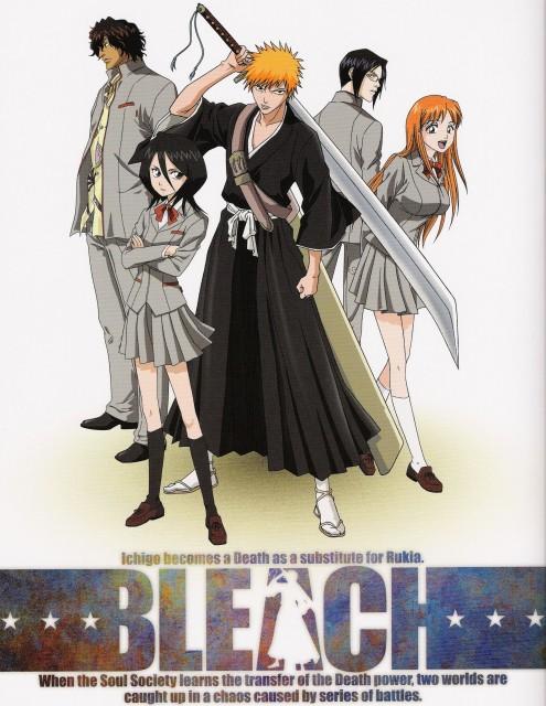 Studio Pierrot, Bleach, Rukia Kuchiki, Uryuu Ishida, Orihime Inoue