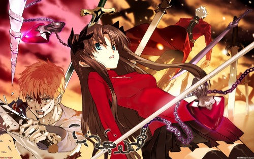 Fate/stay night, Shiro Emiya, Archer (Fate/stay night), Rin Tohsaka Wallpaper