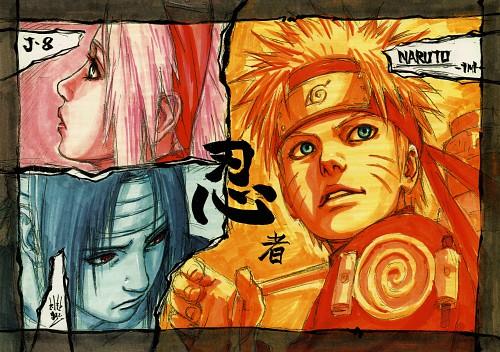 Masashi Kishimoto, Naruto, NARUTO Illustrations, Sasuke Uchiha, Sakura Haruno