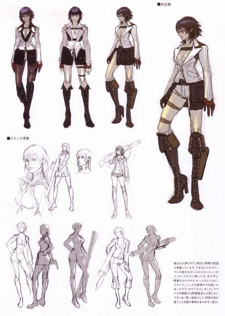 Capcom, Madhouse, Devil May Cry, Lady, Character Sheet