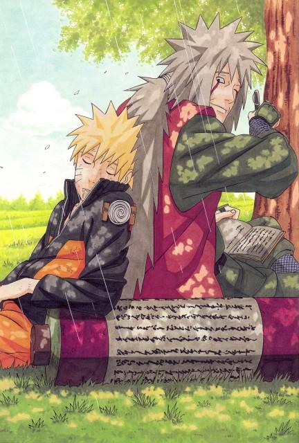 Masashi Kishimoto, Naruto, NARUTO Illustrations, Jiraiya , Naruto Uzumaki