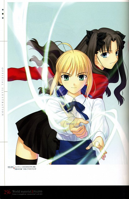 TYPE-MOON, Fate/complete material III World material., Fate/stay night, Saber, Rin Tohsaka