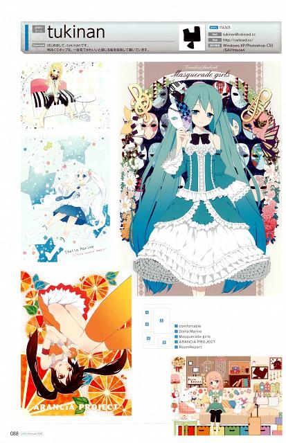 Tukinan, Vocaloid, Miku Hatsune, Arancia, Pixiv