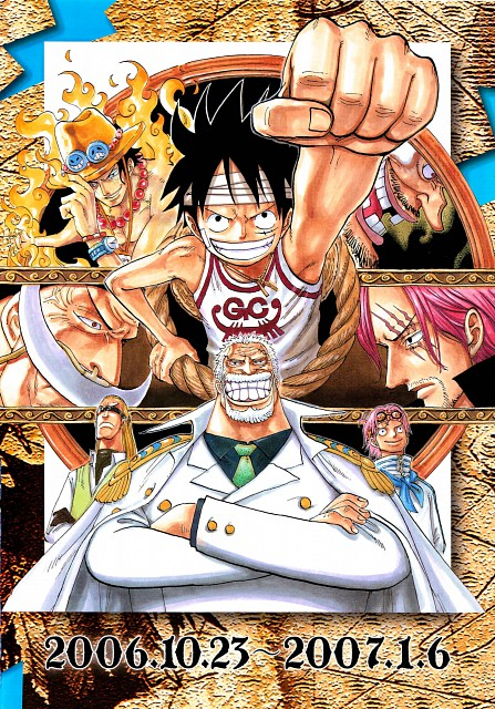 Eiichiro Oda, Toei Animation, One Piece, Color Walk 5 - Shark, Monkey D. Garp