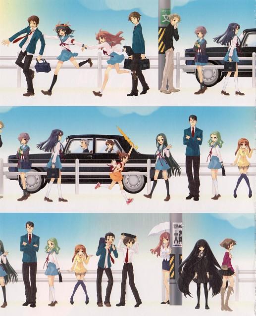 Kyoto Animation, The Melancholy of Suzumiya Haruhi, Kyouko Tachibana, Mikuru Asahina, Emiri Kimidori
