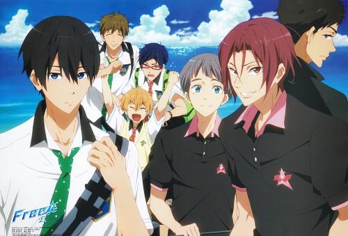 Kyoto Animation, Free!, Rin Matsuoka, Aiichiro Nitori, Rei Ryuugazaki