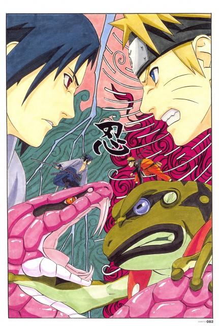 Masashi Kishimoto, Naruto, NARUTO Illustrations, Sasuke Uchiha, Naruto Uzumaki