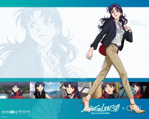 Khara, Gainax, Neon Genesis Evangelion, Misato Katsuragi, Official Wallpaper