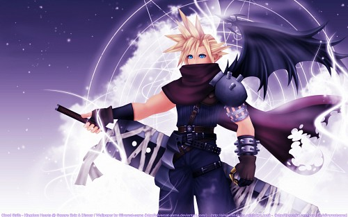 Square Enix, Kingdom Hearts, Cloud Strife Wallpaper