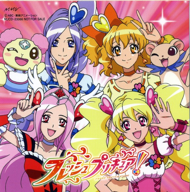 Toei Animation, Fresh Precure!, Tarte (Fresh Precure), Cure Peach, Cure Pine