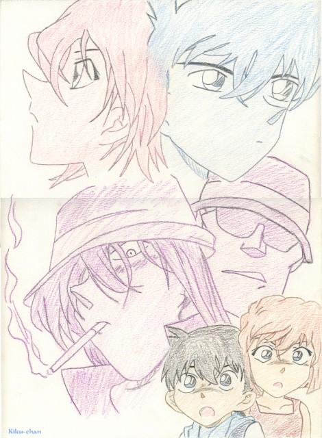 Detective Conan, Gin (Detective Conan), Shinichi Kudou, Ai Haibara, Conan Edogawa