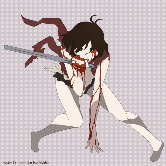 Production I.G, Blood+, Saya Otonashi, Vector Art