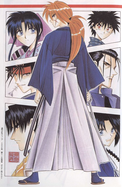 Nobuhiro Watsuki, Rurouni Kenshin, Sanosuke Sagara, Aoshi Shinomori, Hajime Saitou