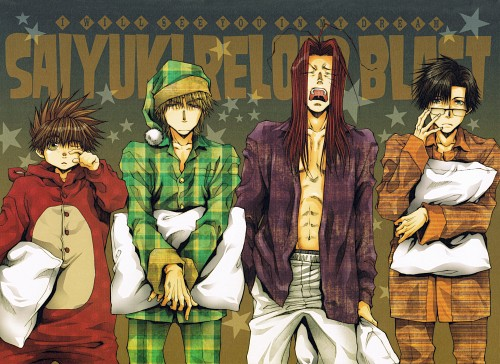 Kazuya Minekura, Saiyuki, Cho Hakkai, Genjyo Sanzo, Son Goku (Saiyuki)