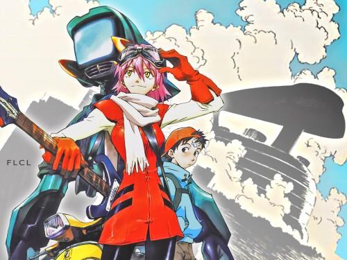 Yoshiyuki Sadamoto, Gainax, FLCL, Naota Nandaba, Haruko Haruhara Wallpaper