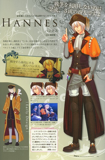 miko (Mangaka), Idea Factory, Beast Master and Prince Official Visual Artbook, Beast Master and Prince, Hannes