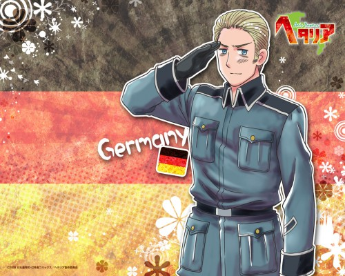 Hidekaz Himaruya, Studio DEEN, Hetalia: Axis Powers, Germany, Official Wallpaper