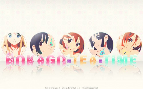 Kakifly, Kyoto Animation, K-On!, Yui Hirasawa, Azusa Nakano Wallpaper