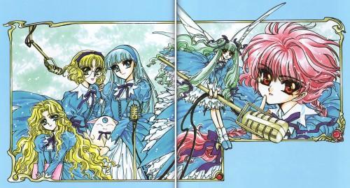 CLAMP, Magic Knight Rayearth, Magic Knight Rayearth 2 Illustrations Collection, Fuu Hououji, Hikaru Shidou