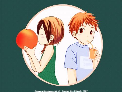 Maki Usami, Orange Kiss, Vector Art Wallpaper