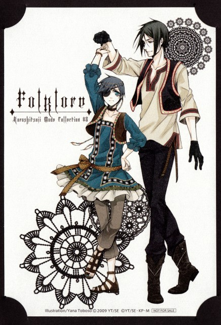 Yana Toboso, Kuroshitsuji, Sebastian Michaelis, Ciel Phantomhive, Manga Cover