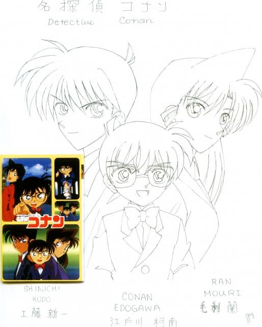 Detective Conan, Shinichi Kudou, Ran Mouri, Conan Edogawa, Member Art