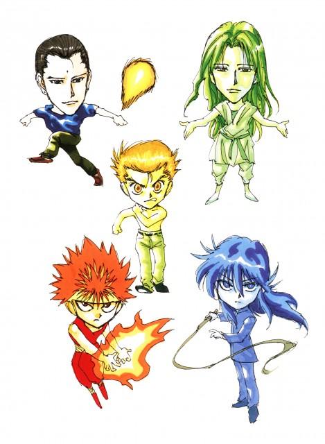 Yoshihiro Togashi, Yuu Yuu Hakusho, Hiei, Kurama, Shinobu Sensui