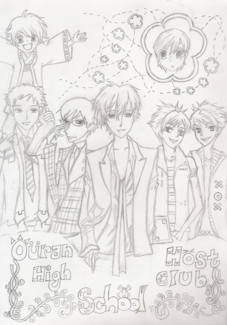 Ouran High School Host Club, Kyoya Ootori, Tamaki Suoh, Mitsukuni Haninozuka, Kaoru Hitachiin
