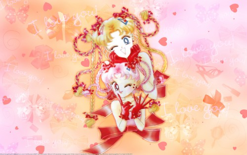 Naoko Takeuchi, Bishoujo Senshi Sailor Moon, BSSM Original Picture Collection Vol. IV, Chibi Usa, Usagi Tsukino Wallpaper