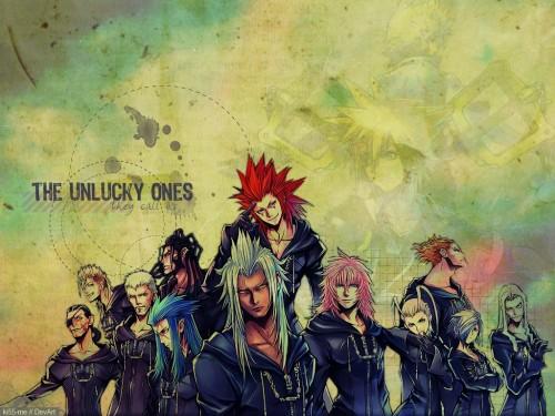 Square Enix, Kingdom Hearts, Larxene, Xigbar, Xemnas Wallpaper