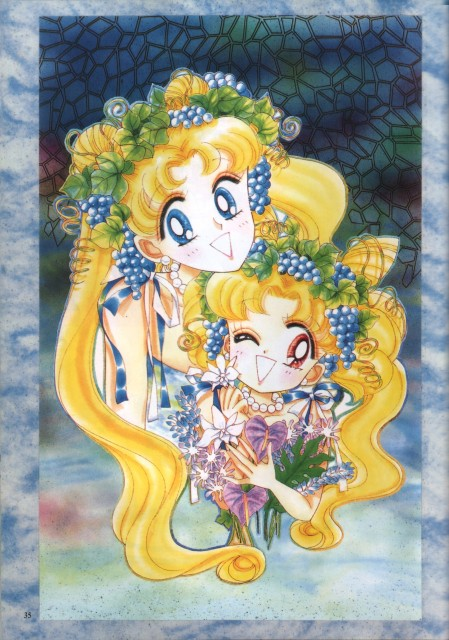 Naoko Takeuchi, Bishoujo Senshi Sailor Moon, BSSM Original Picture Collection Vol. IV, Chibi Usa, Usagi Tsukino