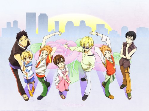Hatori Bisco, BONES, Ouran High School Host Club, Kyoya Ootori, Takashi Morinozuka Wallpaper