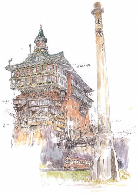 Hayao Miyazaki, Studio Ghibli, Studio Hibari, Spirited Away, The Art of Spirited Away