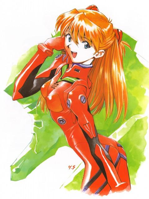 Yoshiyuki Sadamoto, Neon Genesis Evangelion, Der Mond, Unit-02, Asuka Langley Soryu