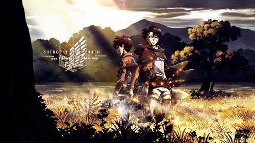 Hajime Isayama, Production I.G, Shingeki no Kyojin, Eren Yeager, Levi Ackerman Wallpaper