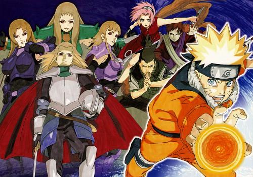 Masashi Kishimoto, Naruto, NARUTO Illustrations, Shikamaru Nara, Gaara