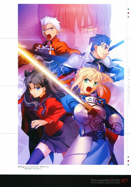 TYPE-MOON, Fate/complete material IV Extra material., Fate/stay night, Saber, Archer (Fate/stay night)