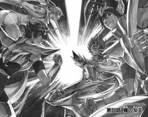 Shiori Teshirogi, Saint Seiya: The Lost Canvas, Cancer Manigoldo, Unicorn Yato, Pegasus Tenma