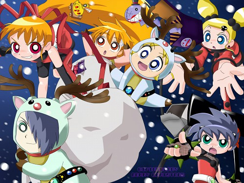Toei Animation, Powerpuff Girls Z, Powered Buttercup, Hyper Blossom, Rolling Bubbles  Wallpaper