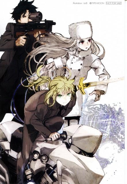 toi8, Fate/Zero, Irisviel von Einzbern, Saber, Kiritsugu Emiya