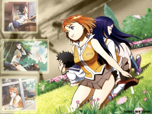 Hisayuki Hirokazu, Sunrise (Studio), My-HiME, Mikoto Minagi, Natsuki Kuga Wallpaper