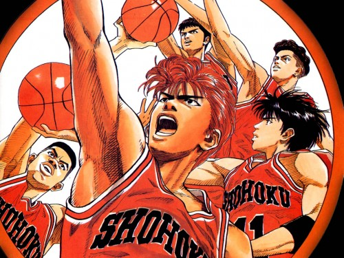Takehiko Inoue, Slam Dunk, Kaede Rukawa, Hanamichi Sakuragi, Hisashi Mitsui Wallpaper
