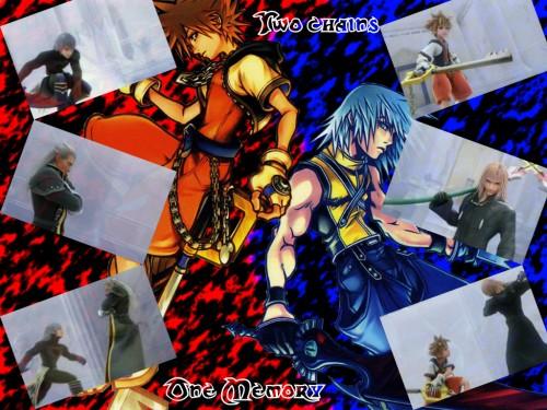 Square Enix, Kingdom Hearts, Sora, Riku, Marluxia Wallpaper