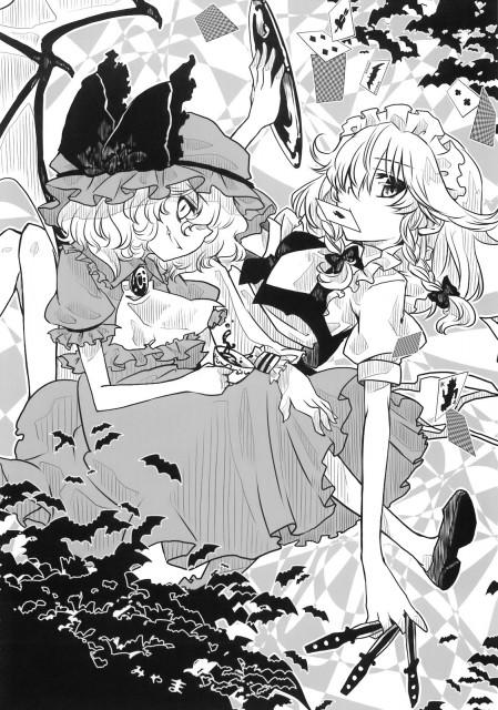 Touhou, Sakuya Izayoi, Remilia Scarlet, Doujinshi, Comic Market 76