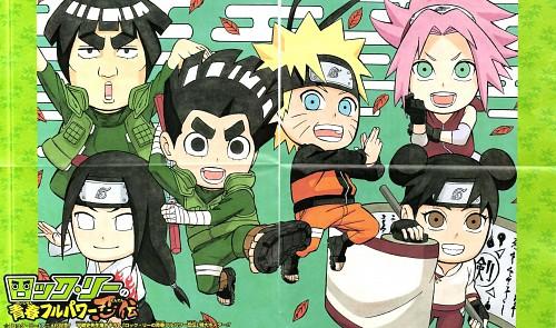 Masashi Kishimoto, Naruto, Neji Hyuuga, Tenten, Rock Lee